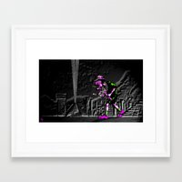 edm Framed Art Prints featuring Fear and Loathing EDM by Rishi Parikh