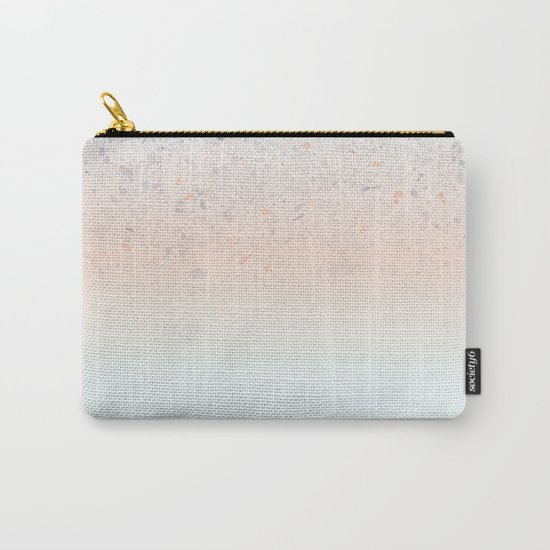 Terrazzo Pastel Colors Soft Fading Gradient Peach+Baby Blue Carry-All Pouch