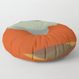 Geometric Landscape XI Floor Pillow