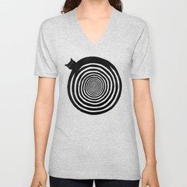 Hypnotic Black Cat Unisex V-Neck