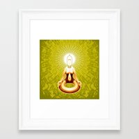 ohm Framed Art Prints featuring OHM by Fulvio Bisca