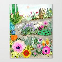 Flower Garden Wander Canvas Print
