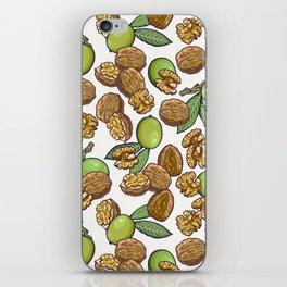 cheeky walnuts pattern iPhone Skin