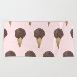 Melt With You (Strawberry) Beach Towel