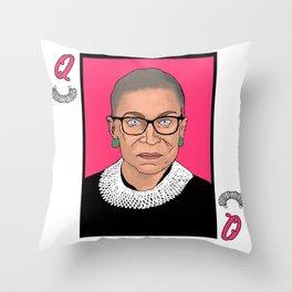 Queen of Dissent Throw Pillow