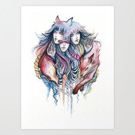 Fox Pack Art Print