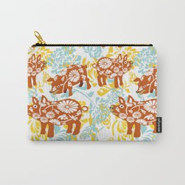 The Year of The Pig with Chysanthemums Carry-All Pouch