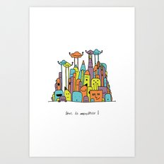 Monster Tower II Art Print
