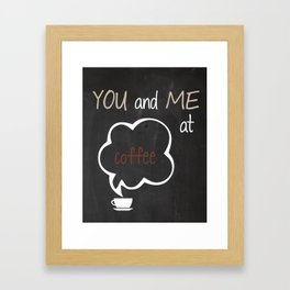 You and Me at Coffee Black and White Print Kitchen Art Printable Wall Decor Print Typography Poster  Framed Art Print