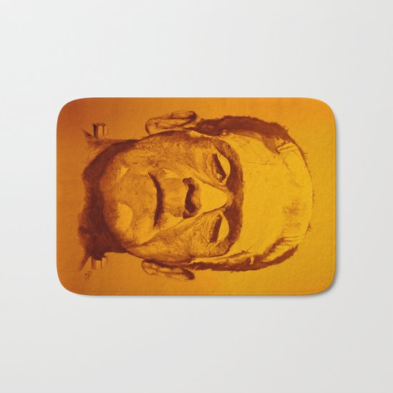 The creature - orange Bath Mat