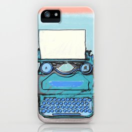 Writer's Muse -Typewriter iPhone Case