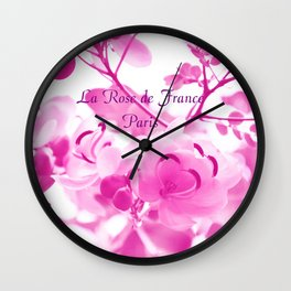 Paris Roses Art // French Cafe, Romantic Gifts, Paris Flowers Wall Clock