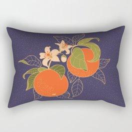 Orange Branch Rectangular Pillow