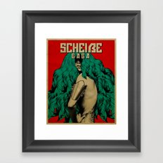 Scheiße Part 3: Protect Yourself From The Scheiße Framed Art Print