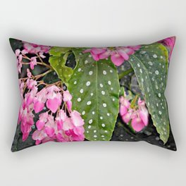 ANGEL WING PINK  BEGONIA FLOWERS Rectangular Pillow