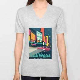Las vegas vintage mode Unisex V-Neck