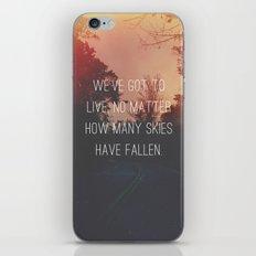 Fallen Skies iPhone & iPod Skin