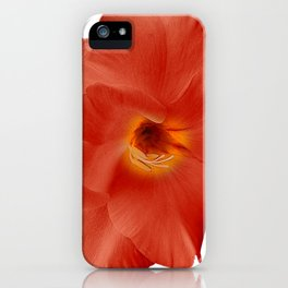 Sword Lily Red Yellow iPhone Case