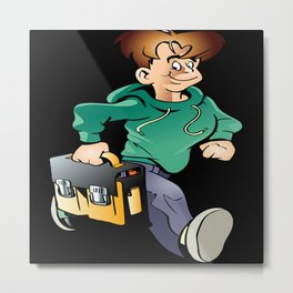 Boy Going To College Metal Print