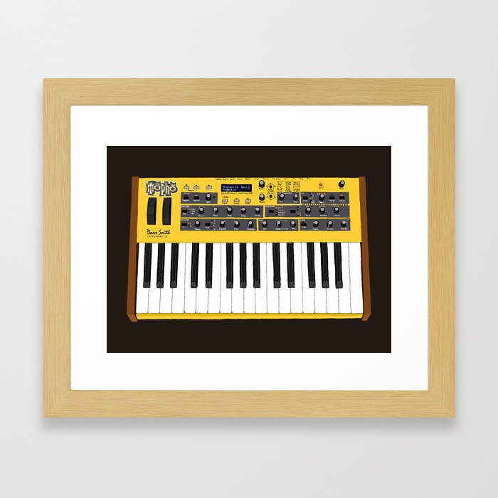 Dave Smith Instruments Mopho Keyboard Framed Art Print