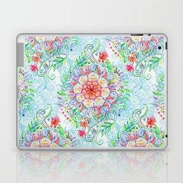 Messy Boho Floral in Rainbow Hues Laptop & iPad Skin
