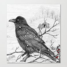 Midwinter Raven v2 Canvas Print