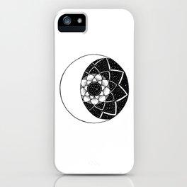 Crescent Moon Mandala iPhone Case