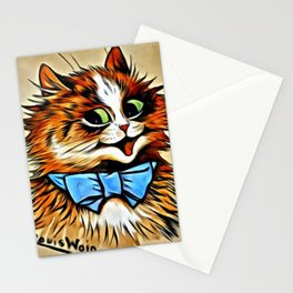 "Louis Wain's Cats ""Tabby with Blue Bow"" Stationery Cards"