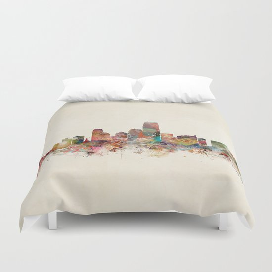 jersey city new jersey Duvet Cover