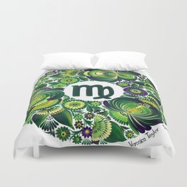Virgo in Petrykivka style (with signature) Duvet Cover