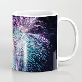 Pastel Fireworks 4th of July photograph Coffee Mug