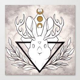 Lunar Rabbit / Jackalope Canvas Print