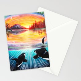 Orca Love Stationery Cards