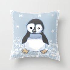 Frosty pinguin Throw Pillow
