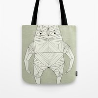 ghost Tote Bags featuring ghost  by Cosmic Nuggets