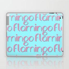 flamingo flamingo flamingo // pink + blue Laptop & iPad Skin
