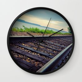 Tracks By the Lake Wall Clock