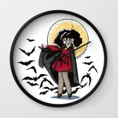 Marjorie the Little Vampire Wall Clock