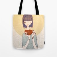 coffee Tote Bags featuring coffee by Renia