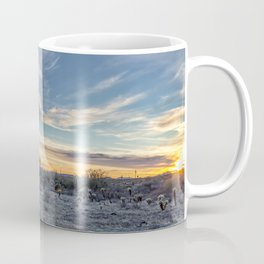 Sunset with Hot Air Balloons in the Distance Outside Phoenix Coffee Mug