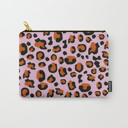 Jungle - Leopard Pattern Light Pink Carry-All Pouch