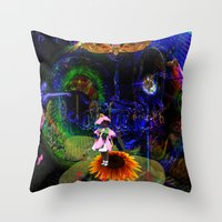 pocket fuel Throw Pillows featuring Fuel by Joseph Mosley