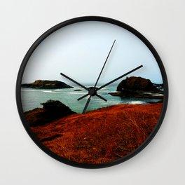 Red Thunder Rock Cove Wall Clock