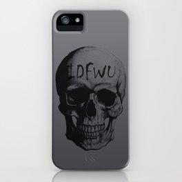 Space Grey IDFWU Skull iPhone Case