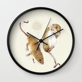 Harvest mice Wall Clock