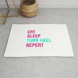Eat Sleep Turn Heel Repeat Cute Training Wrestling Club Team Rug