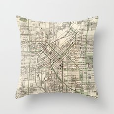 Vintage Map of Denver Colorado (1920) Throw Pillow