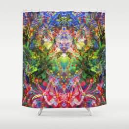 Floral Diving Shower Curtain