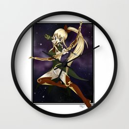 Sagittarius Star Dress Lucy Wall Clock