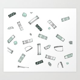 Gum Pattern Art Print